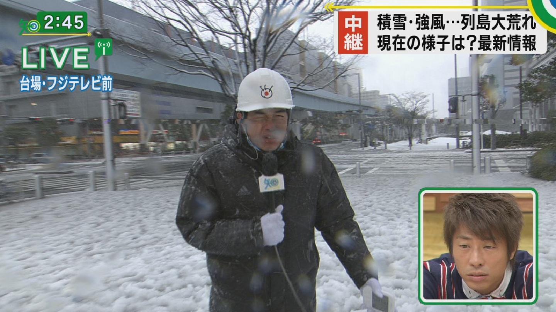 雪が積もって大はしゃぎなフジテレビ